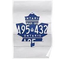 Toronto Maple Leafs Automobilia Decor - White Stain Poster