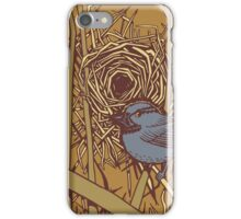 Bird with Nest Color iPhone Case/Skin