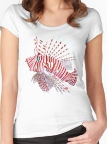 Tropical lionfish Women's Fitted Scoop T-Shirt