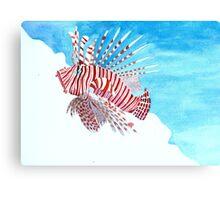 Tropical lionfish Canvas Print