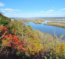 Autumn on the Mississippi River  by lorilee