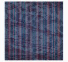 Red stripes on grunge textured blue background One Piece - Long Sleeve