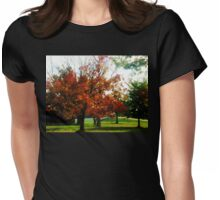 AUTUMN IN OHIO, U.S.A. Womens Fitted T-Shirt