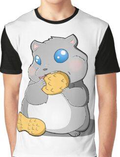 Hamster stuffing his face Graphic T-Shirt