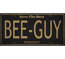 Bee Guy License Plate Photographic Print