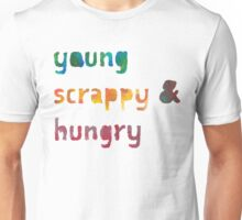 Young, Scrappy, & Hungry - Hamilton (painted) Unisex T-Shirt