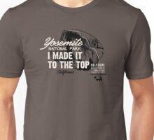 Yosemite National Park Half Dome California America IMITTT I Made It To The Top Unisex T-Shirt