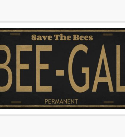 Bee Gal License Plate Sticker