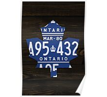 Toronto Maple Leafs Industrial Mixed Media Art - Ebony Stain Poster