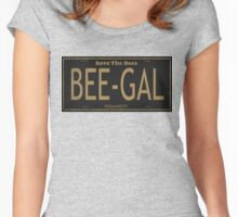 Bee Gal License Plate Women's Fitted Scoop T-Shirt