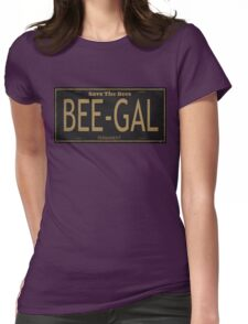 Bee Gal License Plate Womens Fitted T-Shirt