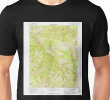 USGS TOPO Map California CA Blue Nose Mtn 288508 1951 24000 geo Unisex T-Shirt
