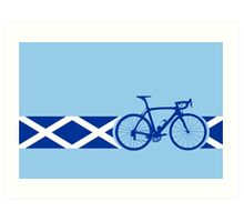 Bike Stripes Scotland Art Print