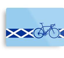 Bike Stripes Scotland Metal Print