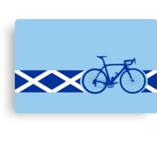Bike Stripes Scotland Canvas Print