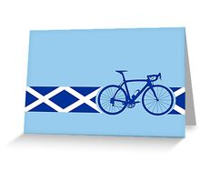 Bike Stripes Scotland Greeting Card
