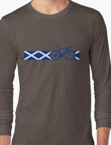 Bike Stripes Scotland Long Sleeve T-Shirt
