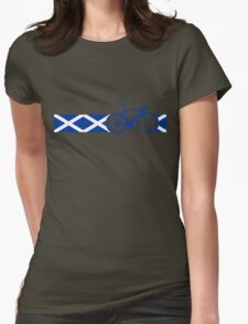 Bike Stripes Scotland Womens Fitted T-Shirt