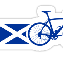 Bike Stripes Scotland Sticker