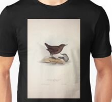 John Gould The Birds of Europe 1837 V1 V5 085 Pallas's Water Ouzel Unisex T-Shirt