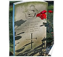 headstone- Commonwealth cemetery in Germany Poster
