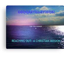 Reaching Out: Top Ten Banner Canvas Print