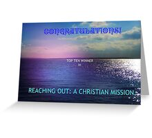 Reaching Out: Top Ten Banner Greeting Card