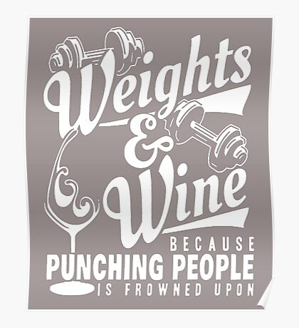 Weight and Wife because punching people Poster