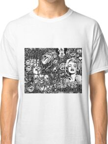Trendy Doodle ft. Drake, Marilyn, nyc, skulls...  Classic T-Shirt