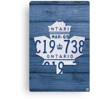 Toronto Maple Leafs Decor License Plate Print - Blue Stain Canvas Print