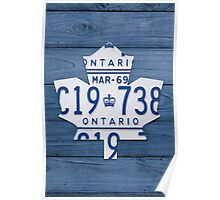 Toronto Maple Leafs Decor License Plate Print - Blue Stain Poster