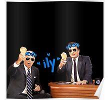 Joe Biden and Jimmy Fallon Eating Ice Cream  Poster