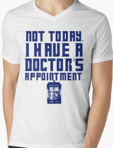I Have A Doctor's Appointment - Doctor Who Mens V-Neck T-Shirt