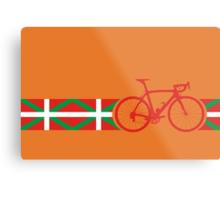 Bike Stripes Basque Metal Print