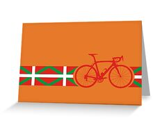 Bike Stripes Basque Greeting Card