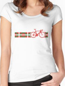 Bike Stripes Basque Women's Fitted Scoop T-Shirt