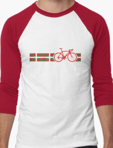 Bike Stripes Basque Men's Baseball ¾ T-Shirt
