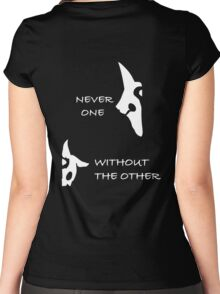 Kindred - Wolf & Lamb - NEVER ONE WITHOUT THE OTHER Women's Fitted Scoop T-Shirt