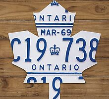 Toronto Maple Leafs Vintage Decar Poster - Light Walnut by Route401