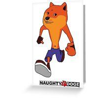 naughty doge Greeting Card