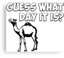 Guess What Day it Is? Hump Day Camel Canvas Print