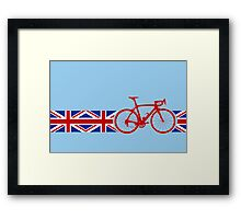 Bike Stripes Union Jack Framed Print