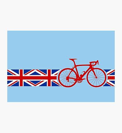 Bike Stripes Union Jack Photographic Print