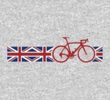 Bike Stripes Union Jack One Piece - Short Sleeve