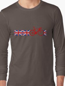 Bike Stripes Union Jack Long Sleeve T-Shirt
