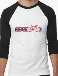 Bike Stripes Union Jack Men's Baseball ¾ T-Shirt