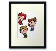 Final Fantasy Chibis - Fighter Trio! Framed Print