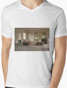 Off White Mens V-Neck T-Shirt