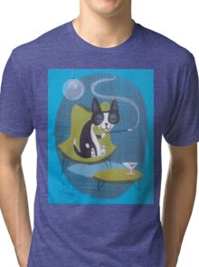 Boston Terrier At Home Tri-blend T-Shirt