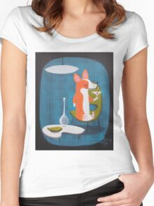 Corgi At Home Women's Fitted Scoop T-Shirt